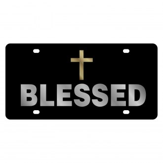 Eurosport Daytona® - LSN License Plate with Christian Blessed Logo