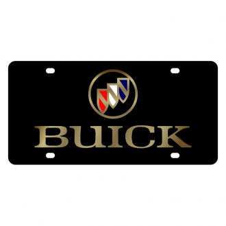 Eurosport Daytona® - GM Black License Plate with Gold Buick Logo