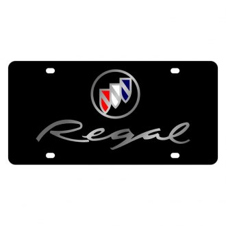 Eurosport Daytona® - GM Black License Plate with Silver Regal Logo