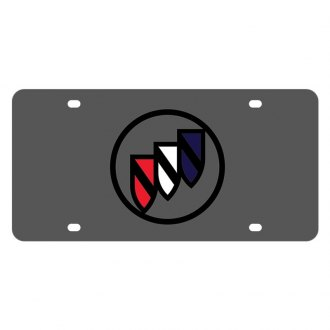 Eurosport Daytona® - GM Carbon Black License Plate with Buick Logo