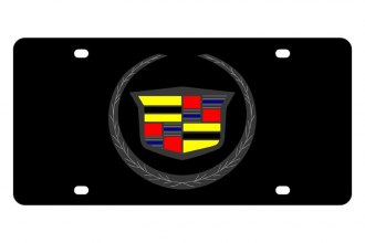 Eurosport Daytona® - GM Carbon Black License Plate with Cadillac Logo
