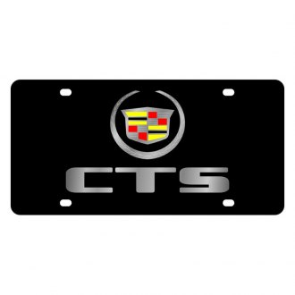Eurosport Daytona® - GM Black License Plate with Silver Cts Logo