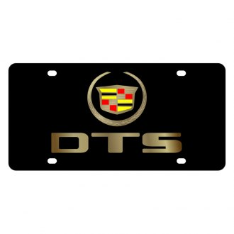Eurosport Daytona® - GM Black License Plate with Gold Dts Logo