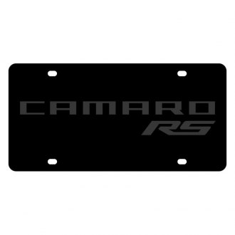 Eurosport Daytona® - GM Carbon Black License Plate with Camaro RS Logo