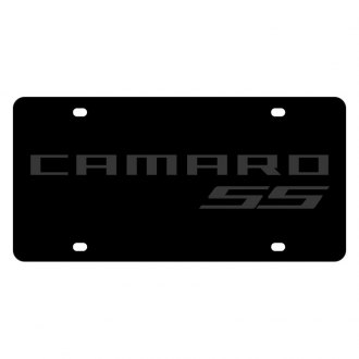 Eurosport Daytona® - GM Carbon Black License Plate with Camaro SS Logo