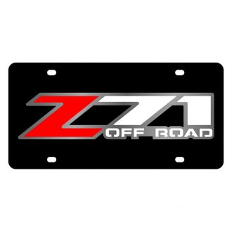Eurosport Daytona® - GM Black License Plate with Z-71 Logo