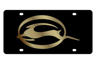Eurosport Daytona® 3336-2 - GM Black License Plate with Gold Impala Logo