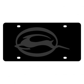 Eurosport Daytona® - GM Carbon Black License Plate with Impala Logo
