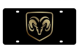 Eurosport Daytona® - MOPAR Black License Plate with Gold Ram Logo