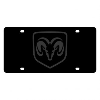 Eurosport Daytona® - MOPAR Carbon Black License Plate with Ram framed Logo