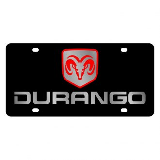 Eurosport Daytona® - MOPAR Black License Plate with Silver Durango Logo