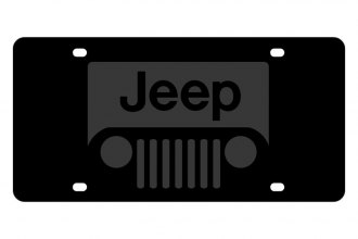 Eurosport Daytona® - MOPAR Carbon Black License Plate with New Jeep Grill Logo