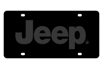 Eurosport Daytona® - MOPAR Carbon Black License Plate with Jeep Logo