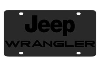 Eurosport Daytona® - MOPAR Carbon Black License Plate with Wrangler Logo