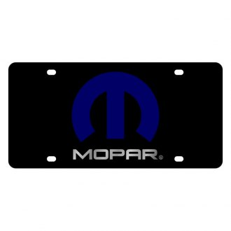 Eurosport Daytona® - MOPAR Black License Plate with Silver Mopar Logo