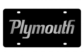 Eurosport Daytona® - MOPAR Black License Plate with Silver Plymouth Logo