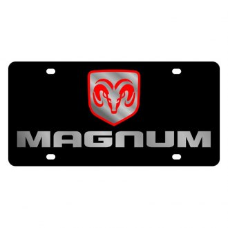 Eurosport Daytona® - MOPAR Black License Plate with Silver Magnum Logo