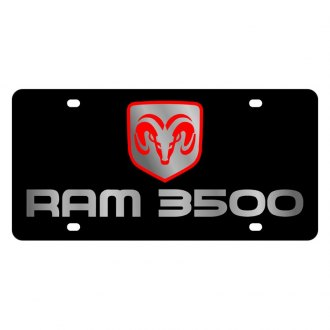 Eurosport Daytona® - MOPAR Black License Plate with Silver Ram 3500 Logo