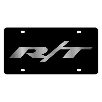 Eurosport Daytona® - MOPAR Black License Plate with Silver Rt Logo