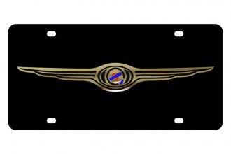 Eurosport Daytona® - MOPAR Black License Plate with Silver Chrysler Logo
