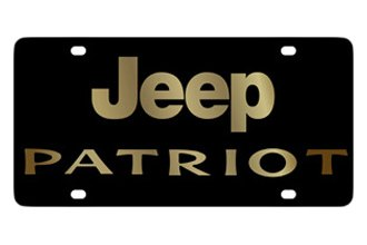 Eurosport Daytona® - MOPAR Black License Plate with Gold Jeep Patriot Logo