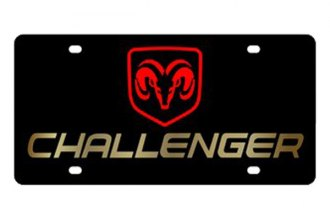 Eurosport Daytona® - MOPAR Black License Plate with Gold Challenger Logo