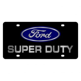 Eurosport Daytona® - Ford Motor Company Black License Plate with Silver Super Duty Logo