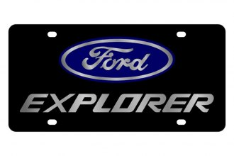 Eurosport Daytona® - Ford Motor Company Black License Plate with Silver Explorer Logo