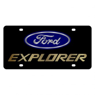 Eurosport Daytona® - Ford Motor Company Black License Plate with Gold Explorer Logo