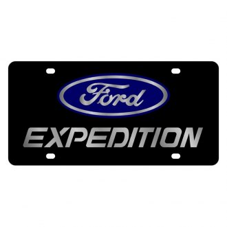 Eurosport Daytona® - Ford Motor Company Black License Plate with Silver Expedition Logo