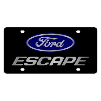Eurosport Daytona® - Ford Motor Company Black License Plate with Silver Escape Logo