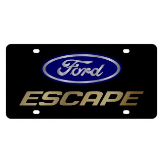 Eurosport Daytona® - Ford Motor Company Black License Plate with Gold Escape Logo