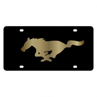 Eurosport Daytona® - Ford Motor Company Black License Plate with Gold Mustang Logo