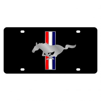 Eurosport Daytona® - Ford Motor Company Black License Plate with Silver Mustang Logo