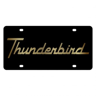 Eurosport Daytona® - Ford Motor Company Black License Plate with Gold Thunderbird Logo
