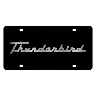 Eurosport Daytona® - Ford Motor Company Black License Plate with Silver Thunderbird Retro Script Logo