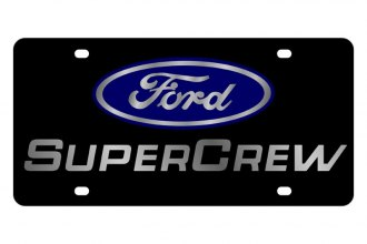 Eurosport Daytona® - Ford Motor Company Black License Plate with Silver SuperCrew Logo