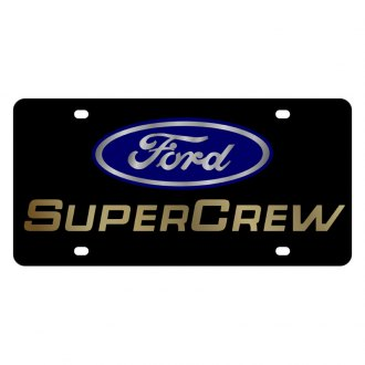 Eurosport Daytona® - Ford Motor Company Black License Plate with Gold SuperCrew Logo