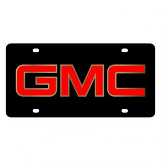 Eurosport Daytona® - GM Black License Plate with Gold GMC Logo