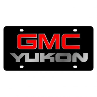 Eurosport Daytona® - GM Black License Plate with Silver GMC Yukon Logo