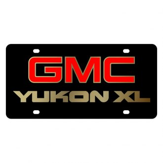 Eurosport Daytona® - GM Black License Plate with Gold GMC Yukon XL Logo