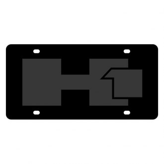 Eurosport Daytona® - GM Black License Plate with Black Hummer H1 Logo