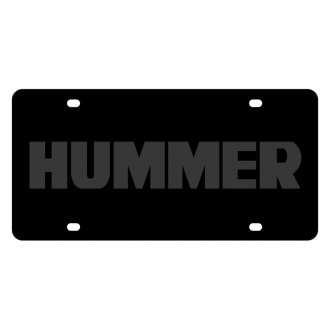 Eurosport Daytona® - GM Carbon Black License Plate with Hummer Logo