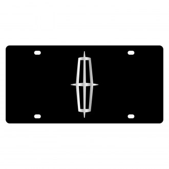 Eurosport Daytona® - Ford Motor Company Black License Plate with Silver Lincoln Logo
