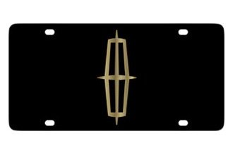 Eurosport Daytona® - Ford Motor Company Black License Plate with Gold Lincoln Logo