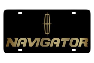 Eurosport Daytona® - Ford Motor Company Black License Plate with Gold Navigator Logo