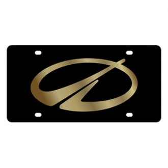 Eurosport Daytona® - GM Black License Plate with Gold Oldsmobile Emblem