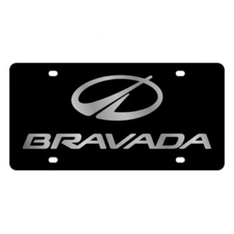 Eurosport Daytona® - GM Black License Plate with Silver Oldsmobile Bravada Logo