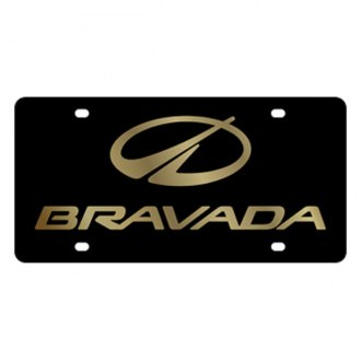 Eurosport Daytona® - GM Black License Plate with Gold Oldsmobile Bravada Logo