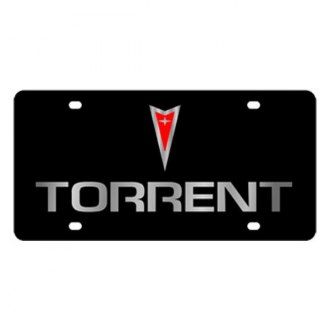 Eurosport Daytona® - GM Black License Plate with Silver Torrent Logo & Word